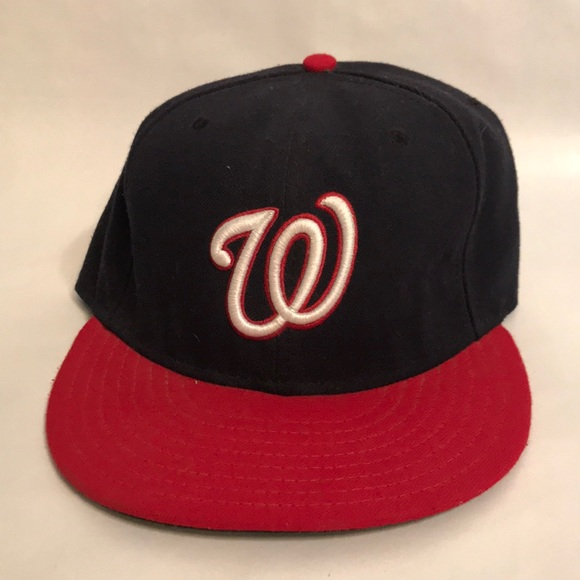 cheaper 188db 18936 New Era Washington Nationals Fitted hat Blue Red. New Era.  M 5c3a90ff3c9844d172174fb5. M 5c3a9110035cf1d6d7d4aabf.  M 5c3a9114bb761538dff79d9e